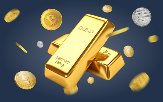 Sale of gold for cryptocurrency